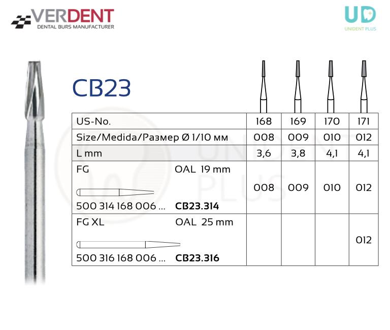 CB23 freza extradura