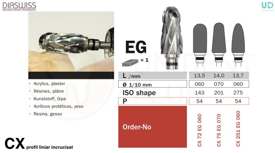 Freza tungsten CX-EG