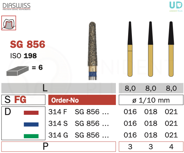 Freza Goldies SG856