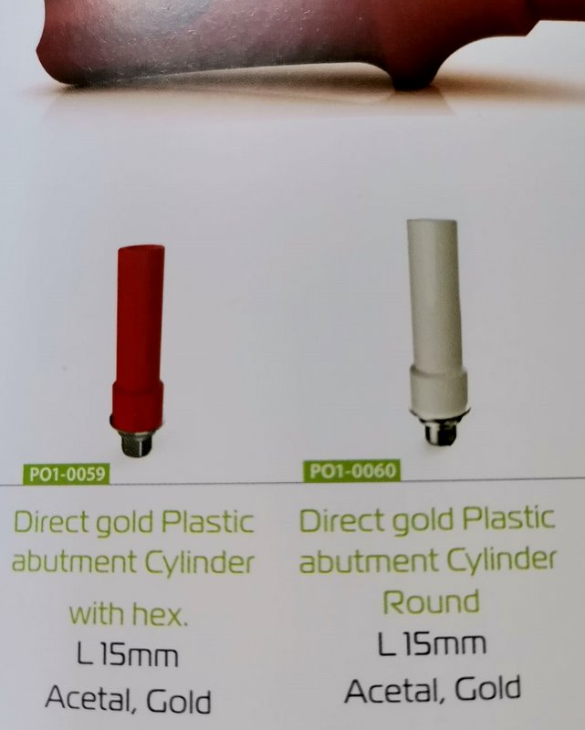Direct Gold Plastic Cylinder