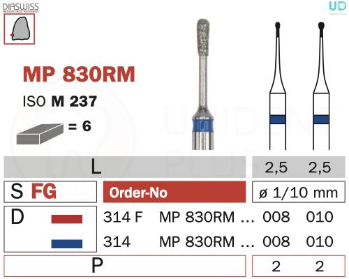 Freza micro-preparare MP830RM