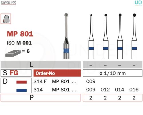 Freza micro-preparare MP801