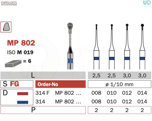 Freza micro-preparare MP802