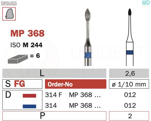 Freza micro-preparare MP368