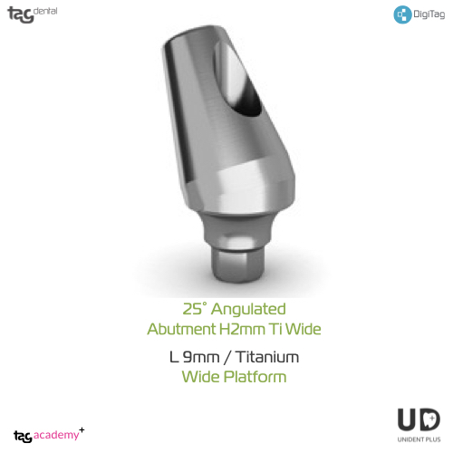 15° Angulated Abutment H2MM Wide