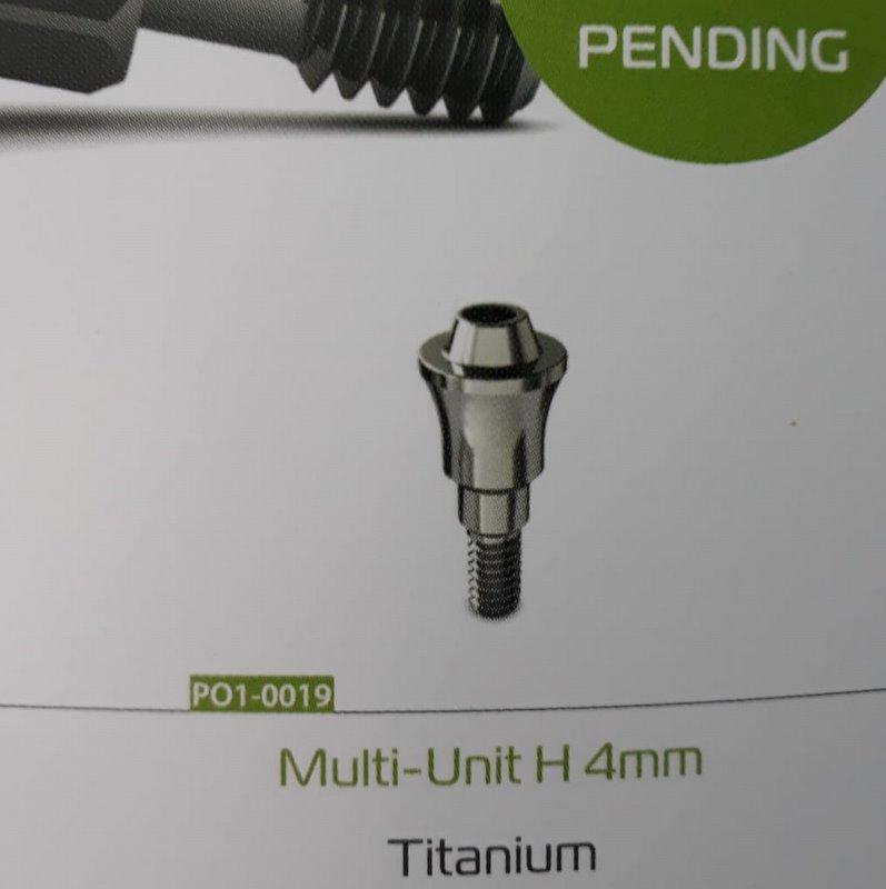 Multi-unit drept 4mm