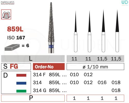 Freza diamantata 859L