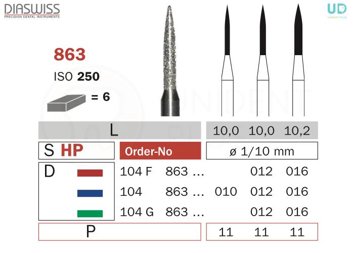 Freza diamantata 863-HP