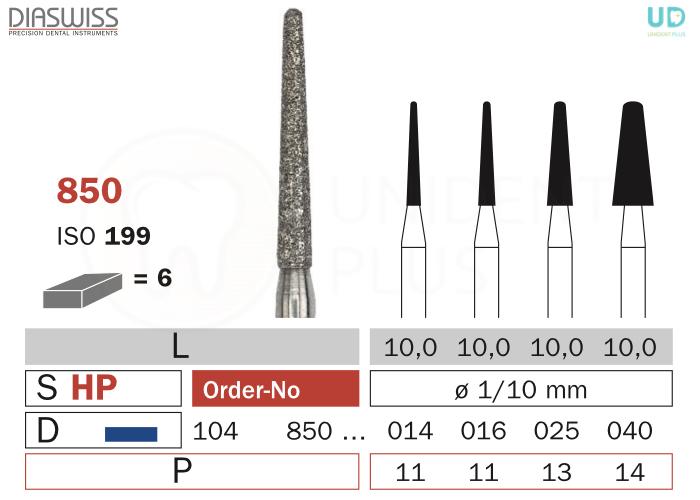 Freza diamantata 850-HP