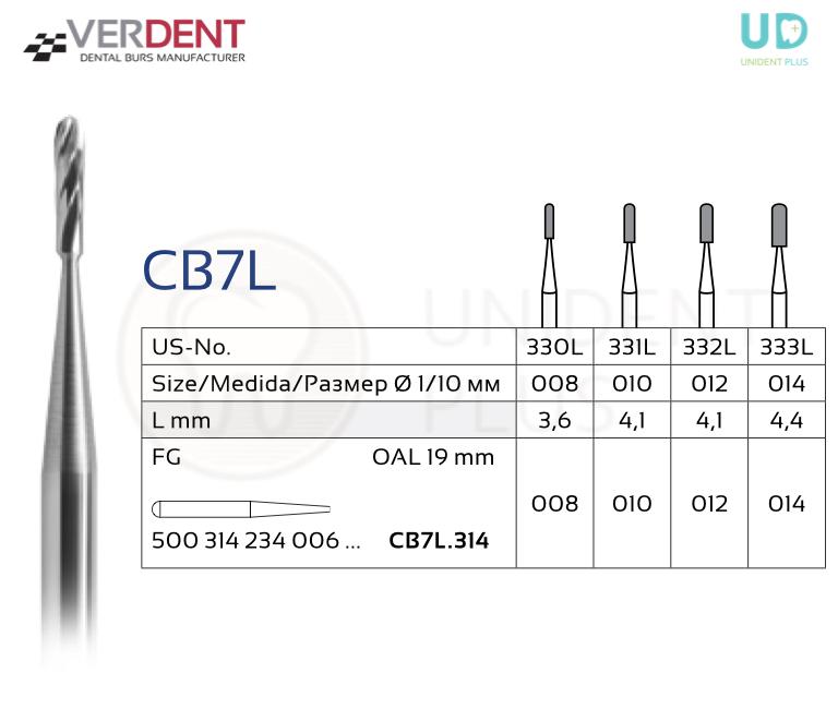 CB7L freza extradura