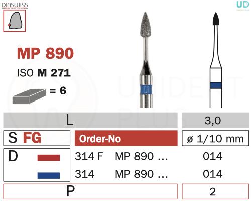 Freza micro-preparare MP890