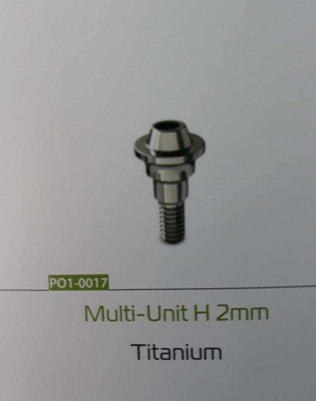Multi-unit drept 2mm