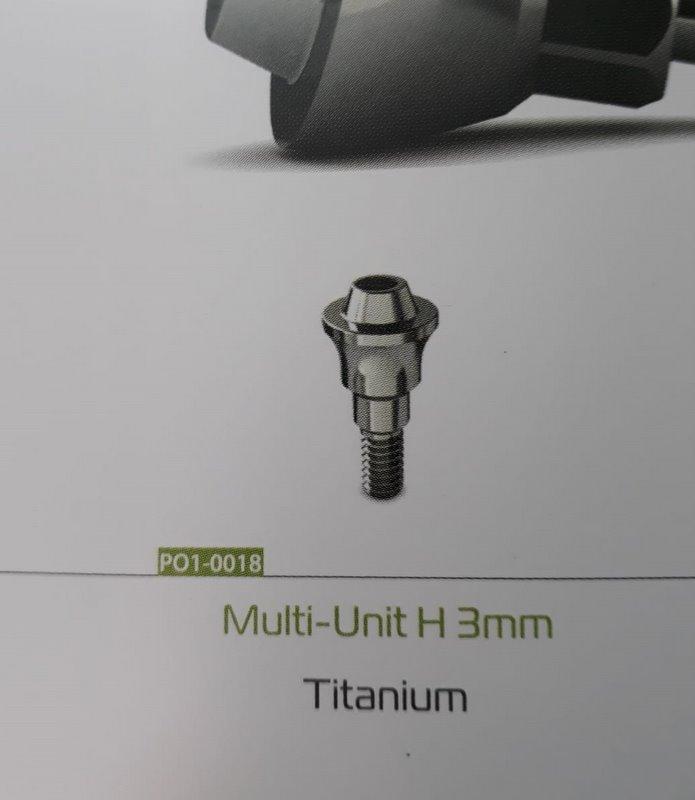 Multi-unit drept 3mm