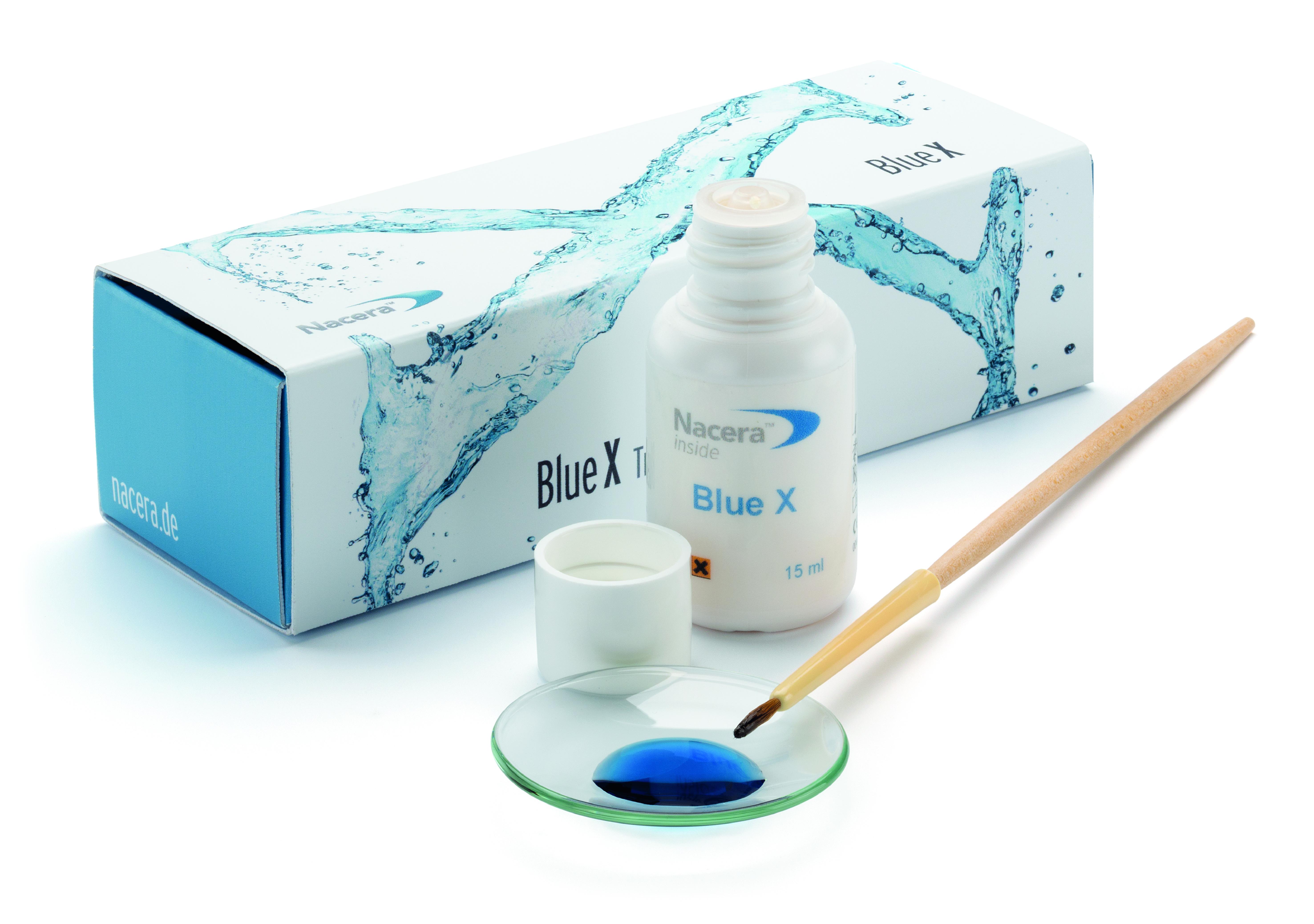 Nacera Blue X translucent liquid