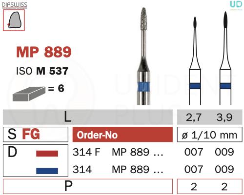Freza micro-preparare MP889
